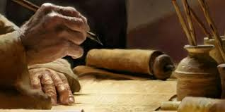 writing on parchment